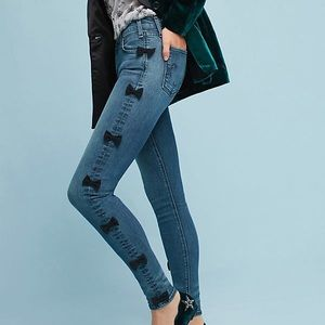 McGuire Newton Mid-Rise Skinny Cropped Jeans Bows